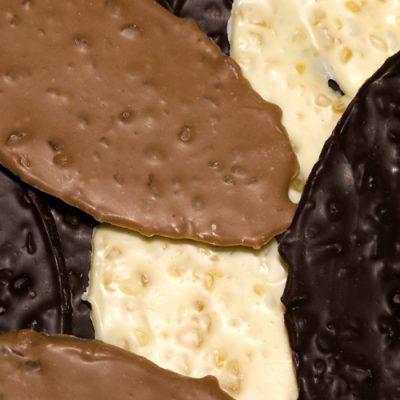 chocolade nougatblaadjes