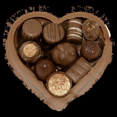 Moederdag chocolade hart gevuld