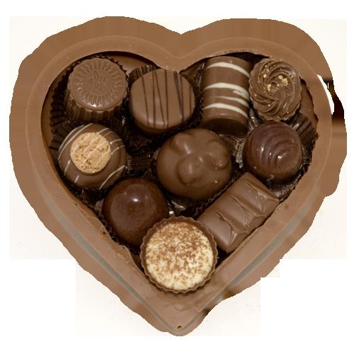 chocolade hart bonbons melk chocolade