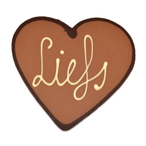 Moederdag hartje chocolade