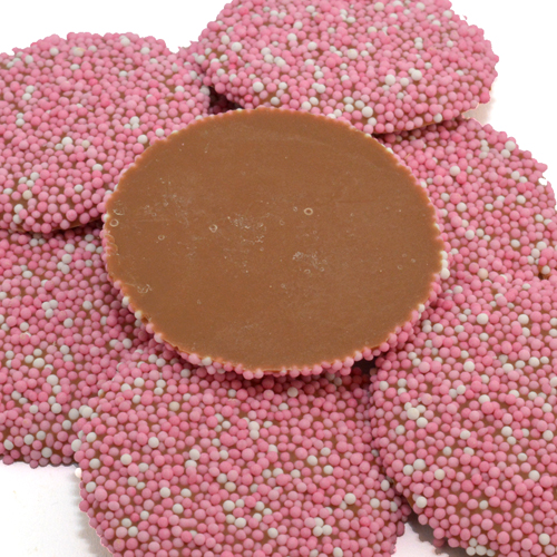 geboorte chocolade flikken roze