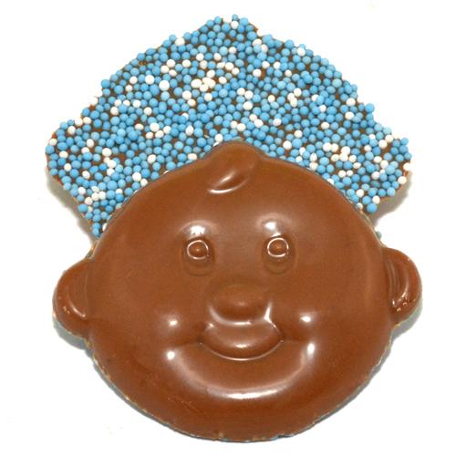 eboorte chocolade babysnoetjes blauw