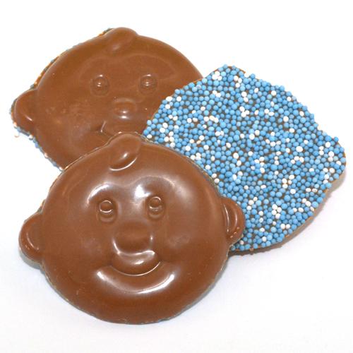 geboorte chocolade babysnoetjes blauw