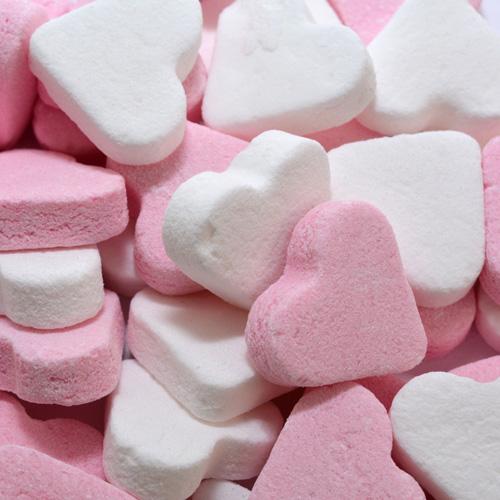 pepermunthartjes roze wit