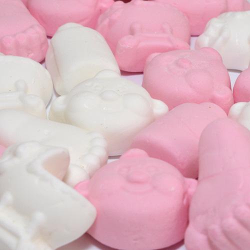 Geboortesnoepjes zacht roze wit
