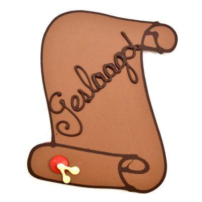 chocolade oorkonde geslaagd