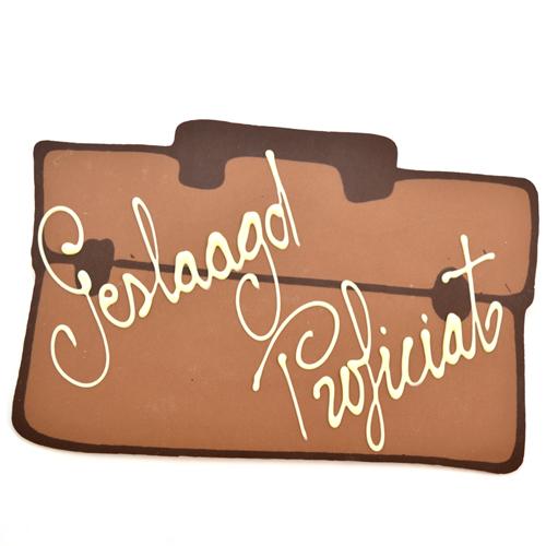 chocolade boekentas geslaagd