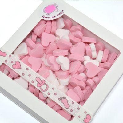 vruchtenhartjes mix roze-wit