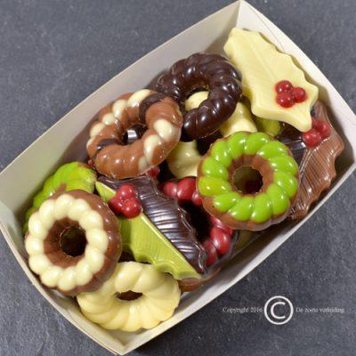 Kerstchocolade hulstblaadjes/kransjes