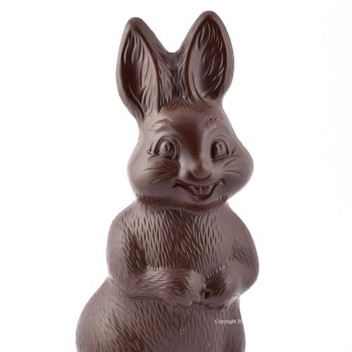 Vrolijke paashaas pure chocolade