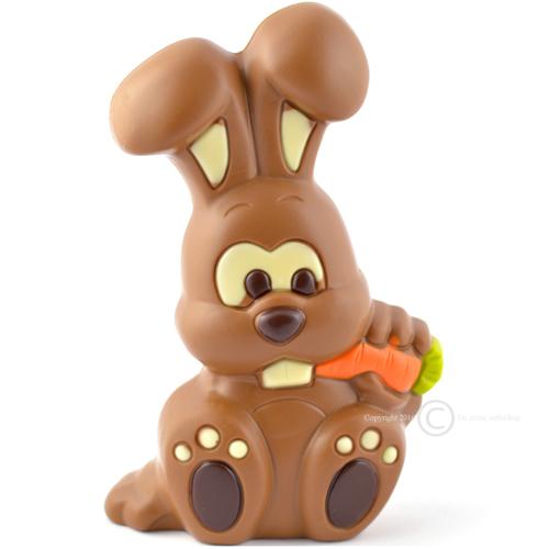 Chocolade paashaas met wortel