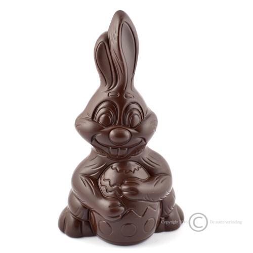 paashaas met ei pure chocolade