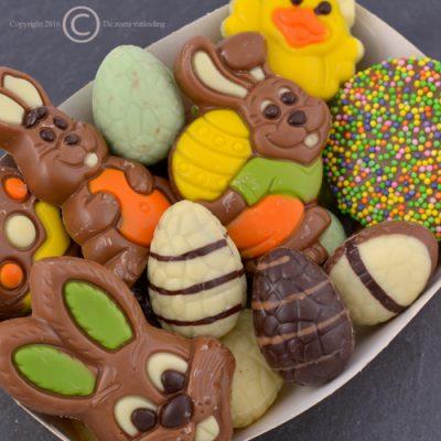 Paaschocolade figuurtjes-paaseitjes massief