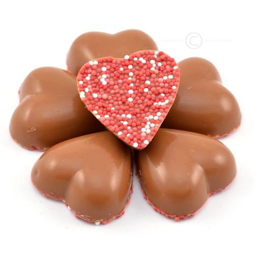 valentijn chocolade musket hartjes