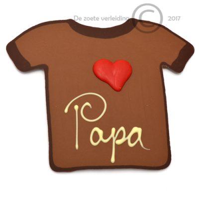 Chocolade T shirt love papa