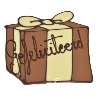 Chocolade kado gefeliciteerd