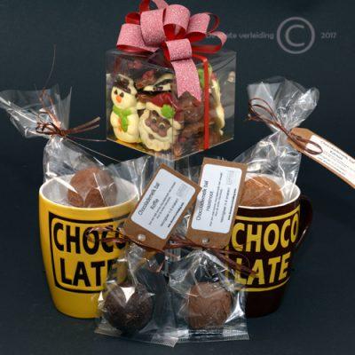 Chocolademelkbal kerstgeschenk