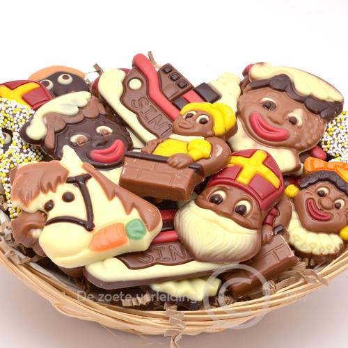 Sint chocolade in mandje