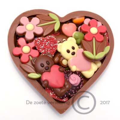 Valentijn chocolade hart gevuld