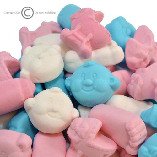 geboortesnoepjes zacht roze blauw mix