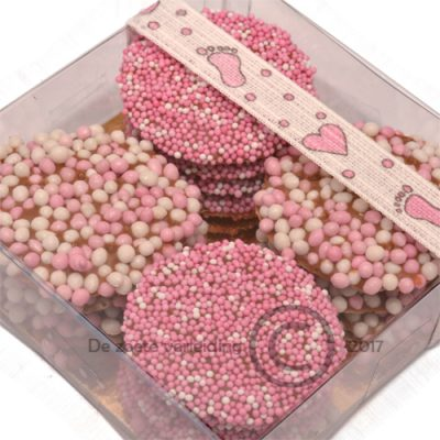 Geboorte flikken roze mix