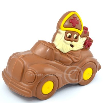 Chocolade sint in auto