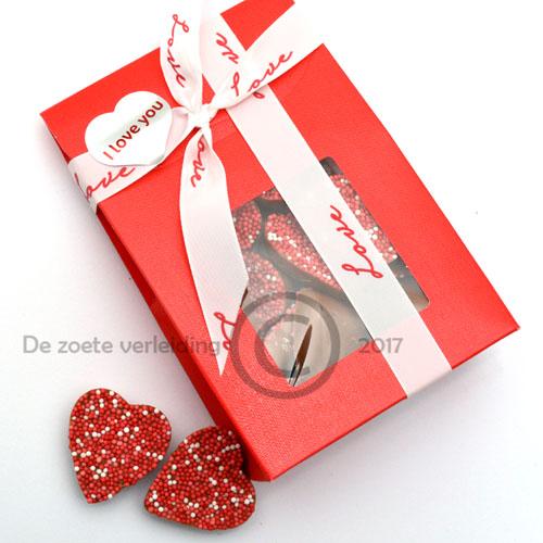 Moederdag chocolade musket hartjes