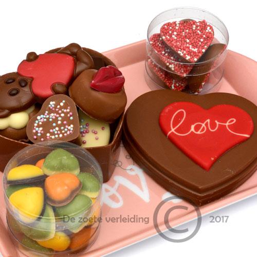 Valentijn chocolade Love cadeau