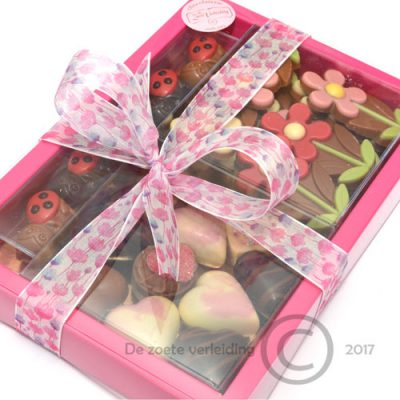 Moederdag chocolade verwenbox