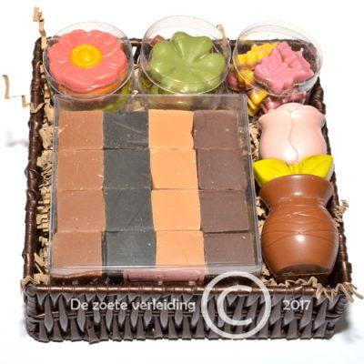 Chocoladegeschenk met fudge