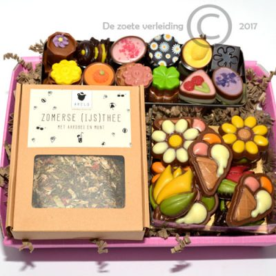 Zomers chocolade & thee geschenk